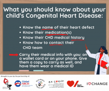 Advocacy information for parents and adults with CHD